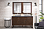 """James Martin Athens Collection 60"""" Double Vanity Cabinet, Mid Century Acacia"""