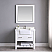 """Issac Edwards Collection 36"""" Single Bathroom Vanity Set in White and Composite Carrara White Stone Top with White Farmhouse Basin without Mirror"""