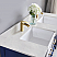 """Issac Edwards Collection 60"""" Double Bathroom Vanity Set in Jewelry Blue and Composite Carrara White Stone Top with White Farmhouse Basin without Mirror"""