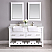 """Issac Edwards Collection 60"""" Double Bathroom Vanity Set in White and Composite Carrara White Stone Top with White Farmhouse Basin without Mirror"""