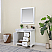 """Issac Edwards Collection 36"""" Single Bathroom Vanity Set in White and Carrara White Marble Countertop without Mirror"""
