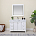 """Issac Edwards Collection 48"""" Single Bathroom Vanity Set in White and Carrara White Marble Countertop without Mirror"""