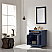 """Issac Edwards Collection 30"""" Single Bathroom Vanity Set in Royal Blue and Carrara White Marble Countertop without Mirror"""