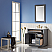 """Issac Edwards Collection 36"""" Single Bathroom Vanity Set in Gray and Carrara White Marble Countertop without Mirror"""