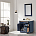 """Issac Edwards Collection 36"""" Single Bathroom Vanity Set in Royal Blue and Carrara White Marble Countertop"""