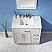 "Issac Edwards Collection 36"" Single Bathroom Vanity Set in White and Carrara White Marble Countertop"