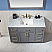 "Issac Edwards Collection 48"" Single Bathroom Vanity Set in Gray and Carrara White Marble Countertop"