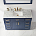"""Issac Edwards Collection 48"""" Single Bathroom Vanity Set in Royal Blue and Carrara White Marble Countertop"""