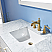 "Issac Edwards Collection 48"" Single Bathroom Vanity Set in White and Carrara White Marble Countertop"