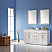 """Issac Edwards Collection 60"""" Double Bathroom Vanity Set in White and Carrara White Marble Countertop without Mirror"""