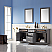 """Issac Edwards Collection 72"""" Double Bathroom Vanity Set in Gray and Carrara White Marble Countertop without Mirror"""