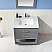 """Issac Edwards Collection 30"""" Single Bathroom Vanity Set in Gray and Carrara White Marble Countertop"""