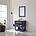 "Issac Edwards Collection 30"" Single Bathroom Vanity Set in Royal Blue and Carrara White Marble Countertop"