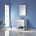 """Issac Edwards Collection 30"""" Single Bathroom Vanity Set in White and Carrara White Marble Countertop"""