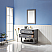 """Issac Edwards Collection 36"""" Single Bathroom Vanity Set in Gray and Carrara White Marble Countertop"""