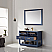 """Issac Edwards Collection 48"""" Single Bathroom Vanity Set in Royal Blue and Carrara White Marble Countertop with Mirror Option"""