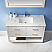 """Issac Edwards Collection 48"""" Single Bathroom Vanity Set in White and Carrara White Marble Countertop with Mirror Option"""