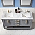 "Issac Edwards Collection 60"" Double Bathroom Vanity Set in Gray and Carrara White Marble Countertop with Mirror Option"
