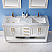 """Issac Edwards Collection 60"""" Double Bathroom Vanity Set in White and Carrara White Marble Countertop with Mirror Option"""