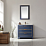 """Issac Edwards Collection 36"""" Single Bathroom Vanity Set in Royal Blue and Composite Carrara White Stone Countertop without Mirror"""
