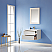 """Issac Edwards Collection 30"""" Single Bathroom Vanity Set in White and Composite Carrara White Stone Countertop without Mirror"""