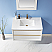"""Issac Edwards Collection 36"""" Single Bathroom Vanity Set in White and Composite Carrara White Stone Countertop without Mirror"""