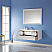 """Issac Edwards Collection 48"""" Single Bathroom Vanity Set in White and Composite Carrara White Stone Countertop without Mirror"""