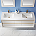 """Issac Edwards Collection 60"""" Double Bathroom Vanity Set in White and Composite Carrara White Stone Countertop without Mirror"""