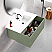 """24"""" Lime Finish Wall Mount Bath Vanity with Linen Cabinet Option Made in Spain"""