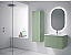 """32"""" Lime Finish Wall Mount Bath Vanity with Linen Cabinet Option Made in Spain"""