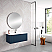 """32"""" Royal Blue Finish Wall Mount Bath Vanity with Linen Cabinet Option Made in Spain"""