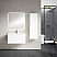 """40"""" Bright White Finish Wall Mount Bath Vanity with Linen Cabinet Option Made in Spain"""