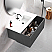 """40"""" Heather Grey Finish Wall Mount Bath Vanity with Linen Cabinet Option Made in Spain"""