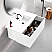 """48"""" Bright White Finish Wall Mount Bath Vanity with Linen Cabinet Option Made in Spain"""
