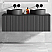 """48"""" Heather Grey Wall Mount Bath Vanity with Linen Cabinet Option Made in Spain"""