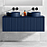 """48"""" Royal Blue Wall Mount Bath Vanity with Linen Cabinet Option Made in Spain"""