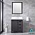 """30"""" Brown Vanity Cabinet Only with Countertop and Mirror Option"""