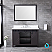 """48"""" Brown Vanity Cabinet Only with Countertop and Mirror Options"""