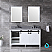 """60"""" White Vanity Cabinet Only with Mirror and Top Options"""