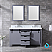 """60"""" Dark Grey Vanity Cabinet Only with Top and Mirror Options"""