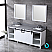 """80"""" White Vanity Cabinet Only with Mirror and Top Options"""