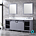 """80"""" Dark Grey Vanity Cabinet Only with Top and Mirror Option"""