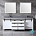 """84"""" White Vanity Cabinet Only with Mirror and Top Options"""