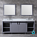 """84"""" Dark Grey Vanity Cabinet Only with Mirror and Top Options"""