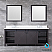 """84"""" Brown Vanity Cabinet Only with Mirror and Top Options"""