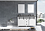 """60"""" White Vanity Cabinet Only with Top and Mirror Options"""