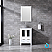 """24"""" White Single Vanity, Integrated Top, White Integrated Square Sink and no Mirror"""