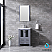 """24"""" Dark Grey Single Vanity, Integrated Top, White Integrated Square Sink and no Mirror"""
