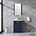 """24"""" Navy Blue Single Vanity, Integrated Top, White Integrated Square Sink and no Mirror"""