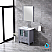 """30"""" Dark Grey Single Vanity, Integrated Top, White Integrated Square Sink and no Mirror"""